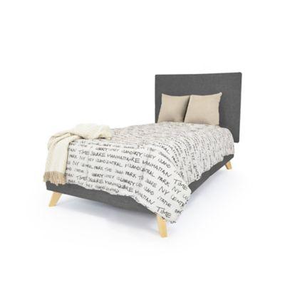 Set de Dormitorio Sencillo Verona Gris Tela