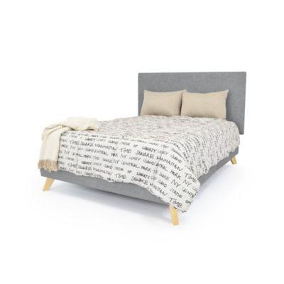 Set de Dormitorio Queen Verona Gris Tela