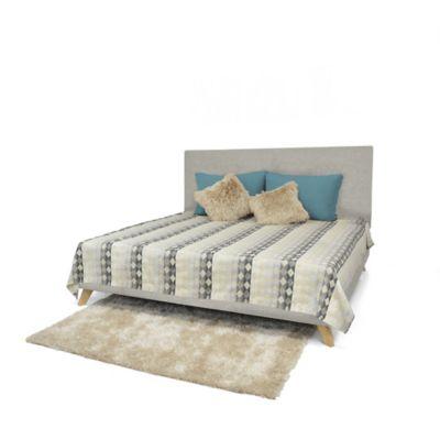 Set de Dormitorio King Verona Taupe Tela