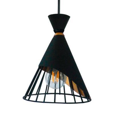 Lámpara Pétalo 1 Luz E27 Negro Dorado