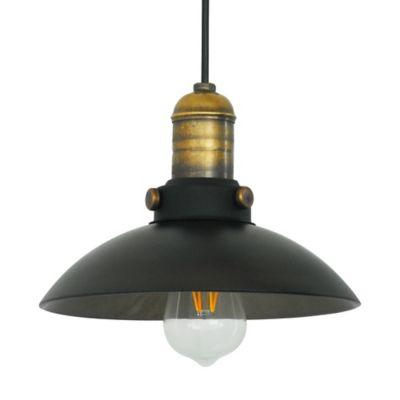 Lámpara Domo 1 Luz E27 Bronce Humo