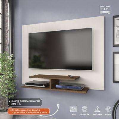 Panel para TV de 42 Pulgadas Jet Plus 120x28x89 Almendra/Blanco