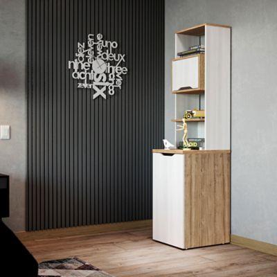Biblioteca Extensible Space 180x40x50-156cm Duna Blanco