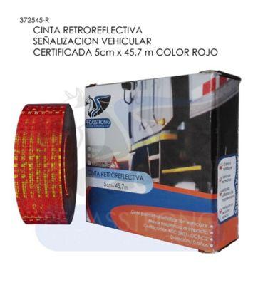 Retroreflectiva Vehículo 5Cmx45.7Mt Rojo