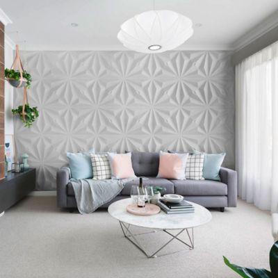 Panel Decorativo 3D Diamante Blanco Caja 3m2 (12 Paneles)
