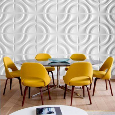 Panel Decorativo 3D Circulos Blanco Caja 3m2 (12 Paneles)