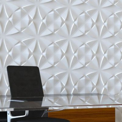 Panel Decorativo 3D Flor Blanco Caja 3m2 (12 Paneles)