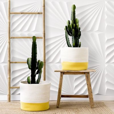 Panel Decorativo 3D Concha Blanco Caja 3m2 (12 Paneles)
