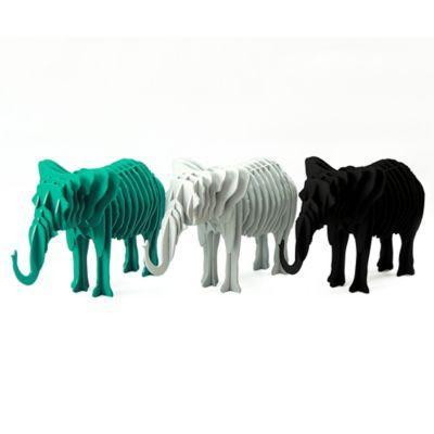 Escultura Elefante 20.5Cm Negro Damasco