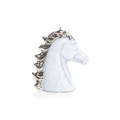 Escultura Caballo 20 cm Plata Guinea