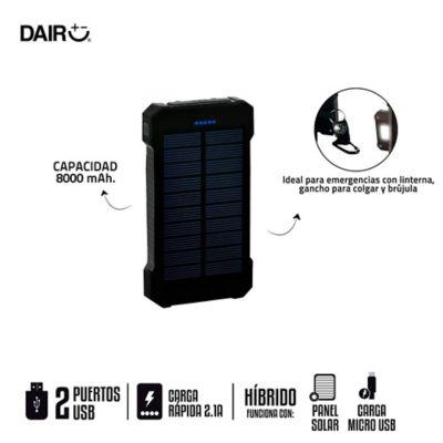 Cargador Portátil Solar De Emergencia 8000 Mah USB