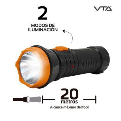 Linterna Recargable 2 Modos Iluminación 20mt
