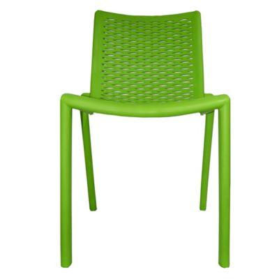 Silla Stem Fibra de Vidrio 80x45x45 cm Verde Biche