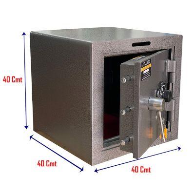 Caja Fuerte Tipo Efecty Seguridad Alta Con Buzón, Clave Y Llave