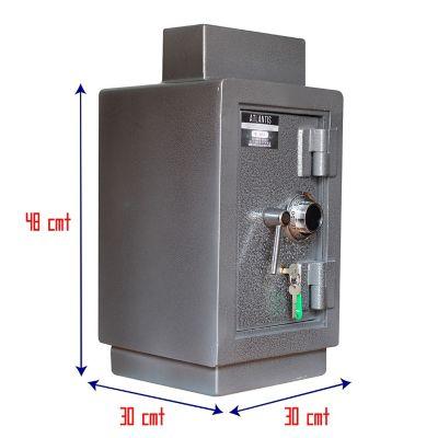 Caja Fuerte Tipo Efecty Seguridad Máxima Con Buzón, Clave Y Llave