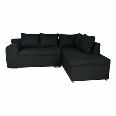 Sofá Esquinero Spasso Damara 218x181x70 Negro
