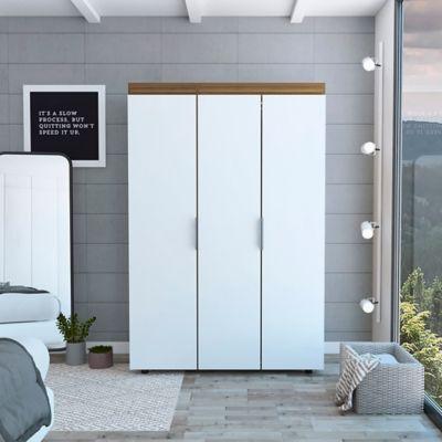 Closet Tolouse 2 Cajones Caramelo/Blanco 180x120x48,3 cm