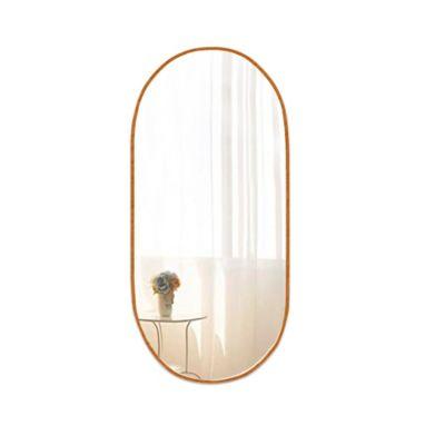 Espejo Ovalado Acero 40x80 cm