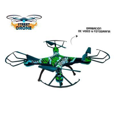 Street Drone Cuadricóptero R/C Acrobacias 360° Con Cámara WIFI Foto Y Video
