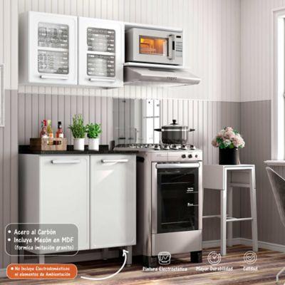 Cocina Integral Gourmet 1.40 Metros Con Meson Blanco
