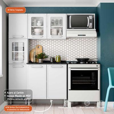 Cocina Integral Gourmet 1.80 Metros Con Meson Blanco