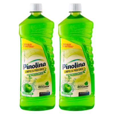 Limpiador Desinfectante Pinolina Manzana Vd 2 Und 1000ml