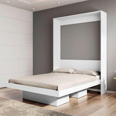 Cama Articulable Matrimonial Doble 193.5x142x24.6 Blanco