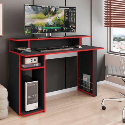 Escritorio Gamer Veinte 120x54x89 Negro/Rojo