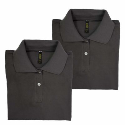 Set x2 Camisetas para Dama Tipo Polo S Gris Oscuro