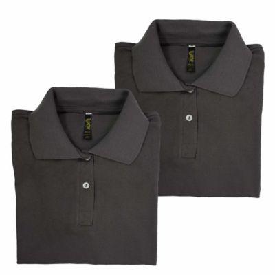 Set x2 Camisetas para Dama Tipo Polo L Gris Oscuro