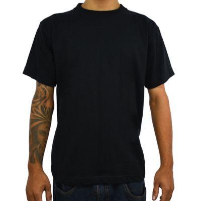 Camiseta para Hombre Tshirt 100% Algodón L Negro