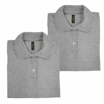 Set x2 Camisetas para Dama Tipo Polo L Gris Jasped