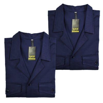 Set x2 Camisas para Hombre Dril Manga Larga M Azul