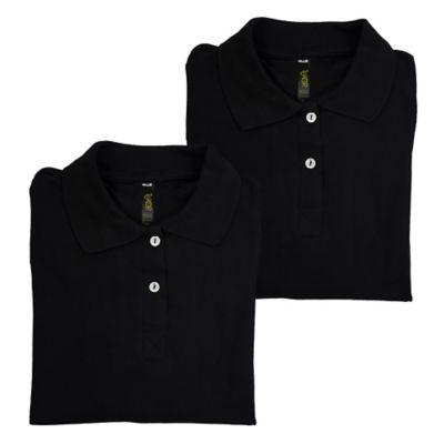 Set x2 Camisetas para Dama Tipo Polo L Negro