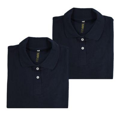 Set x2 Camisetas para Dama Tipo Polo L Azul Oscuro