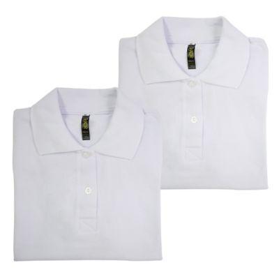 Set x2 Camisetas para Dama Tipo Polo L Blanco