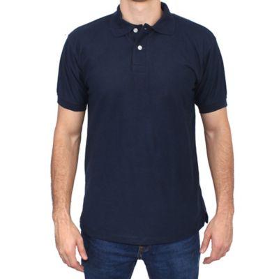 Camiseta para Hombre Tipo Polo L Azul Oscuro