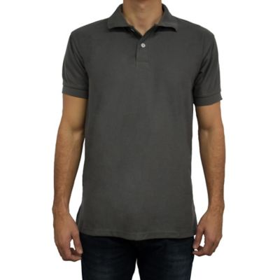 Camiseta para Hombre Tipo Polo M Gris Oscuro