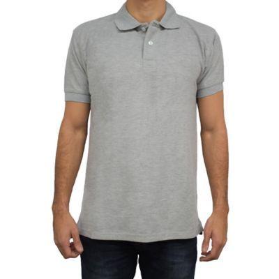 Camiseta para Hombre Tipo Polo L Gris Jasped