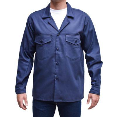 Camisa para Hombre Dril Manga Larga L Azul