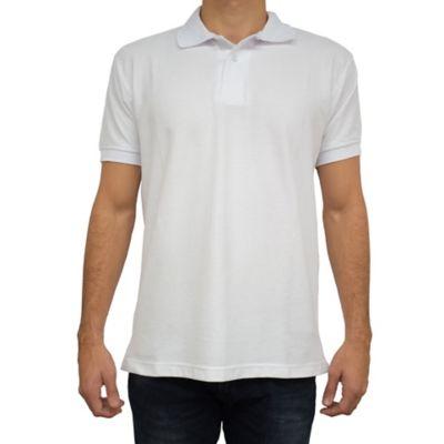 Camiseta para Hombre Tipo Polo L Blanco