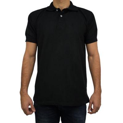 Camiseta para Hombre Tipo Polo L Negro