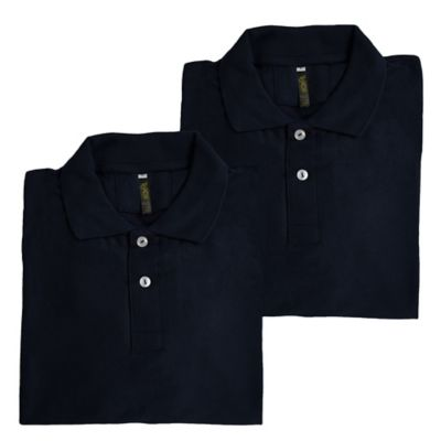 Set x2 Camisetas para Hombre Tipo Polo L Azul Oscur