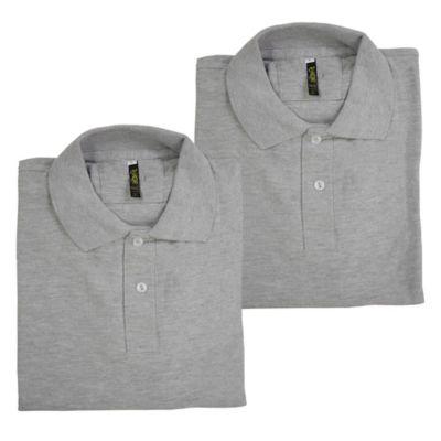 Set x2 Camisetas para Hombre Tipo Polo XL Gris Jaspe