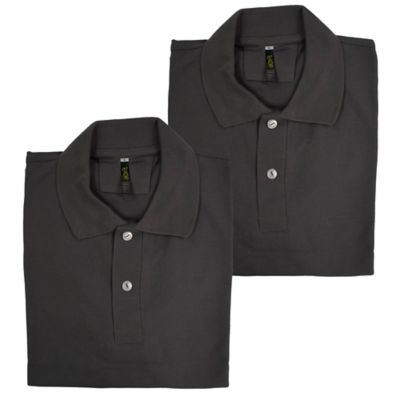 Set x2 Camisetas para Hombre Tipo Polo L Gris Oscuro