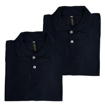 Set x2 Camisetas para Hombre Tipo Polo XL Azul Oscuro