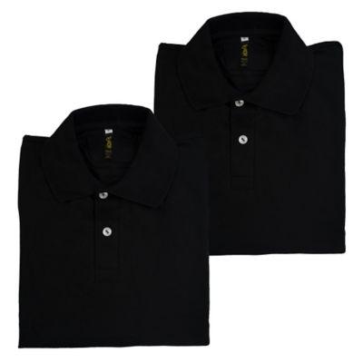 Set x2 Camisetas para Hombre Tipo Polo L Negro