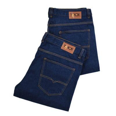 Set x2 Jeans Durables para Hombre Talla 34 Azul