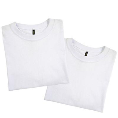 Set x2 Camisetas para Hombre Tshirt 100% Algodón L Blanco