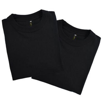Set x2 Camisetas para Hombre Tshirt 100% Algodón XL Negro